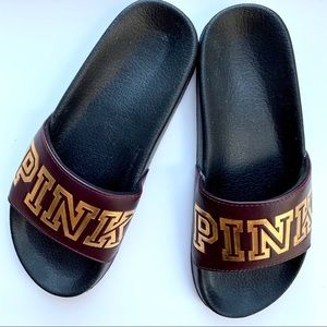 PINK by Vs | Slide on sandals. Sz L (9/10)